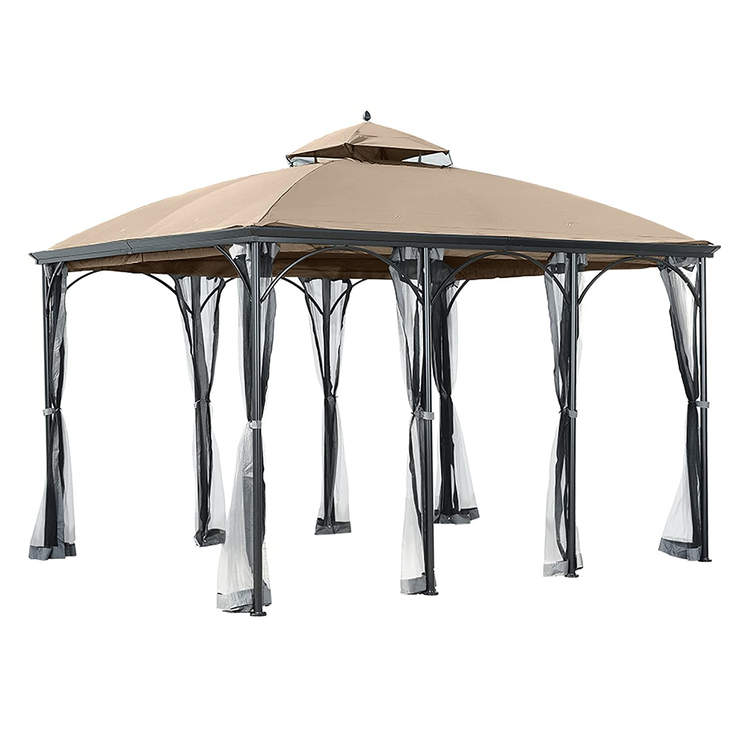 Garden Winds Replacement Canopy for The Big Lots Somerset Gazebo - 350 LCM1151B
