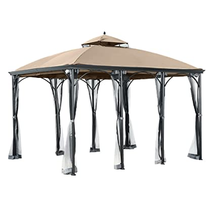 Garden Winds Replacement Canopy for The Big Lots Somerset Gazebo - 350 - Amazon.com : Garden Winds Replacement Canopy For The Big Lots