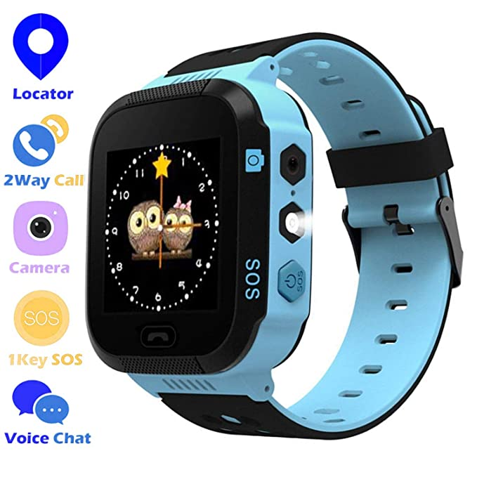 Kids Smartwatch Compatible with iOS Android - Online Tracker with SOS Alarm  Smart Watch Phone Birthday for Boys and Girls