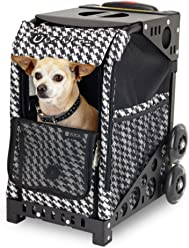 ZUCA ZuZuca Pet Carrier Insert Bag - Houndstooth Black, Houndstooth Pink, or Best in