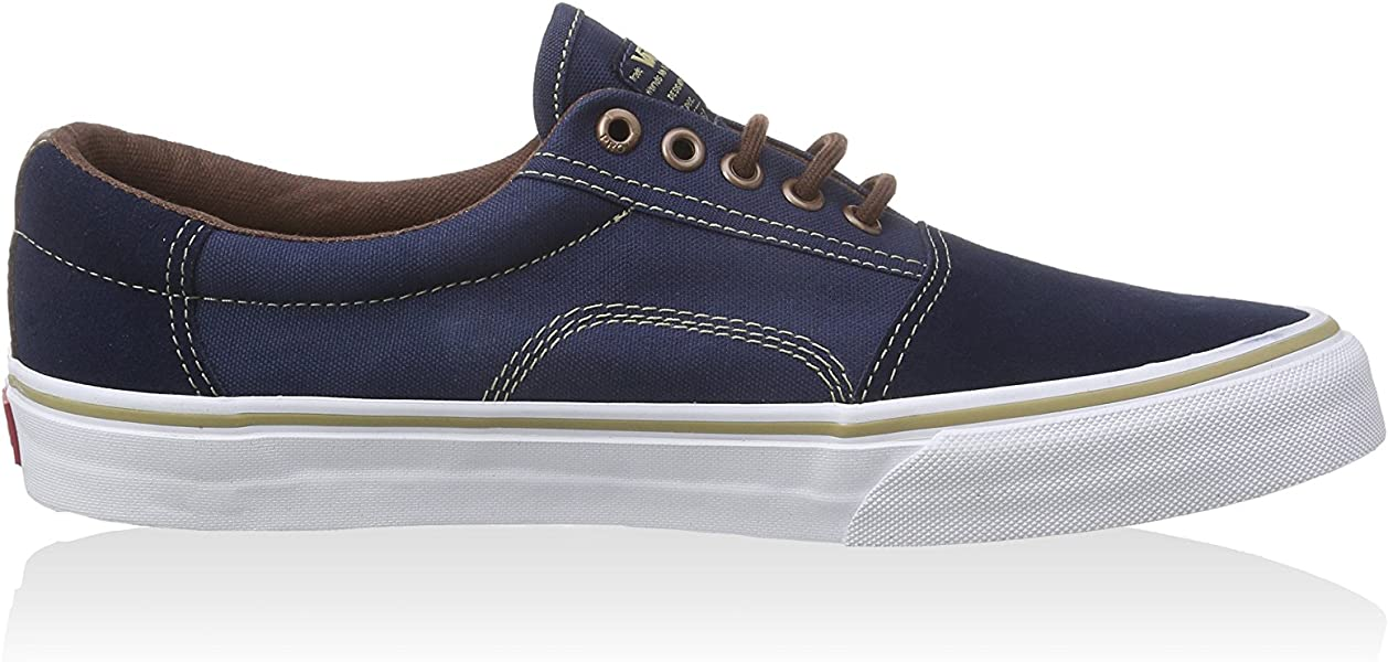 0aff226bd9 Vans Rowley Solos Dress Blues Brown Men s Classic Skate Shoes Size 7.5.  Back. Double-tap to zoom