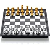 Large Size Magnetic Checkers/Draughts Folding Chessboard International Chess Set Travel Board Game Competition Toy