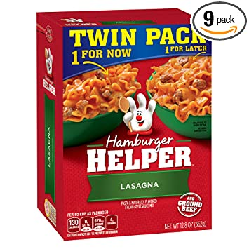 How do you make hamburger helper lasagna