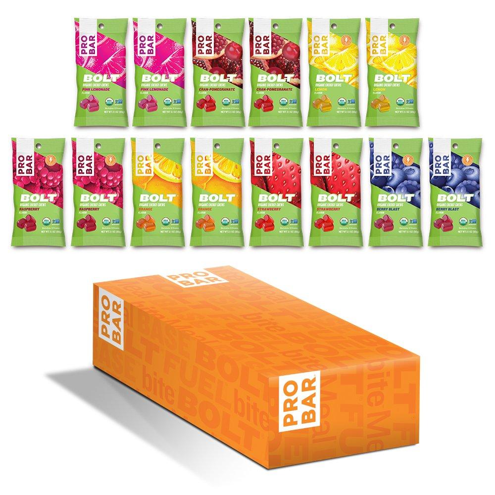 PROBAR - BOLT Organic Energy Chews - Amazon Variety - USDA Organic, Gluten-Free, Superfruit Blend, Electrolytes, B-Vitamins - Pack of 14
