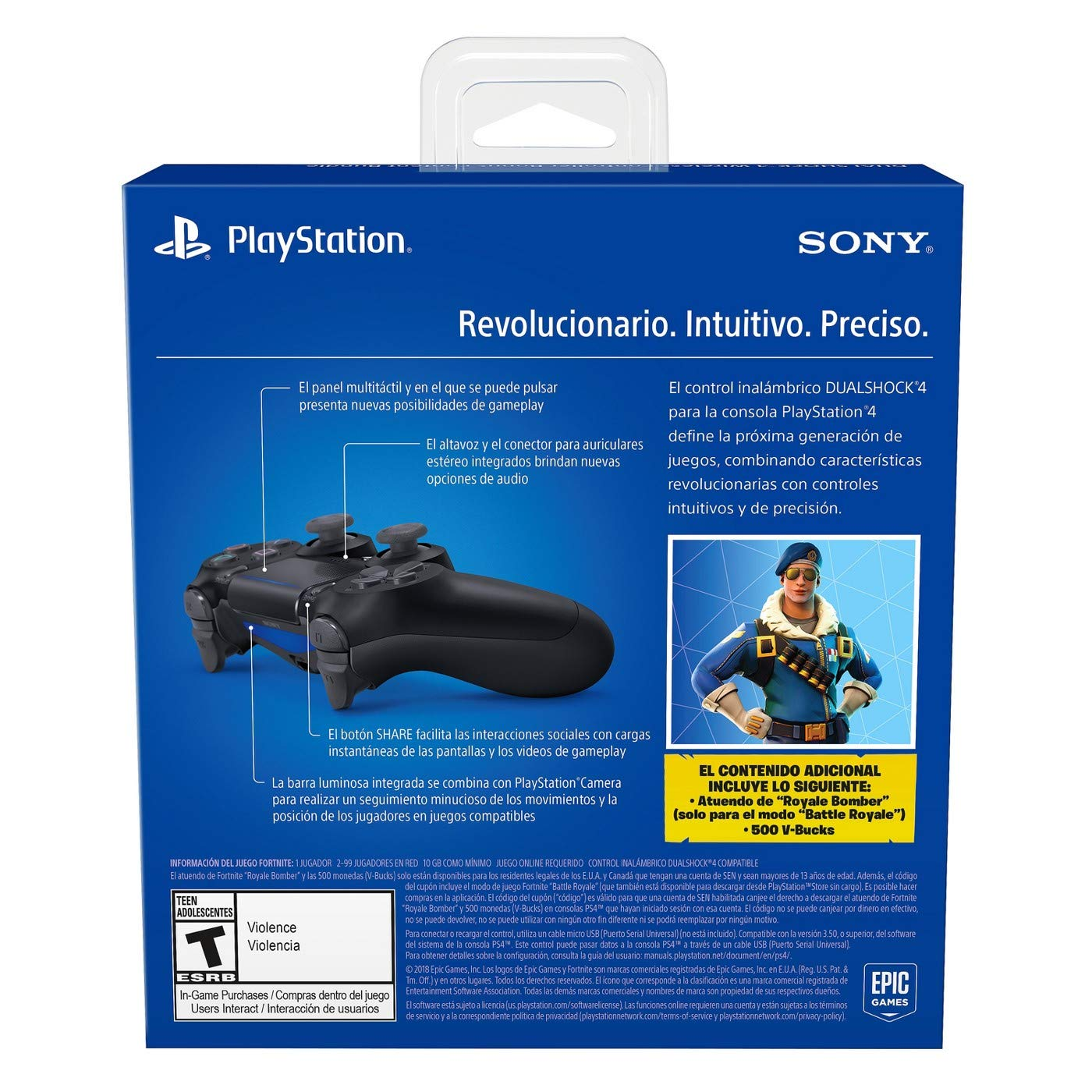 Amazon.com: Playstation 4 Fortnite Limited Bundle: Playstation Exclusive Royale Bomber Outfit, 500 V-Bucks, Days of Play Limited Edition Slim 1 TB Console ...