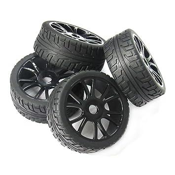powerday® 4pcs 17 mm Hub rueda llanta y neumáticos neumáticos para 1/8 Off-Road RC Buggy de coche HSP: Amazon.es: Juguetes y juegos