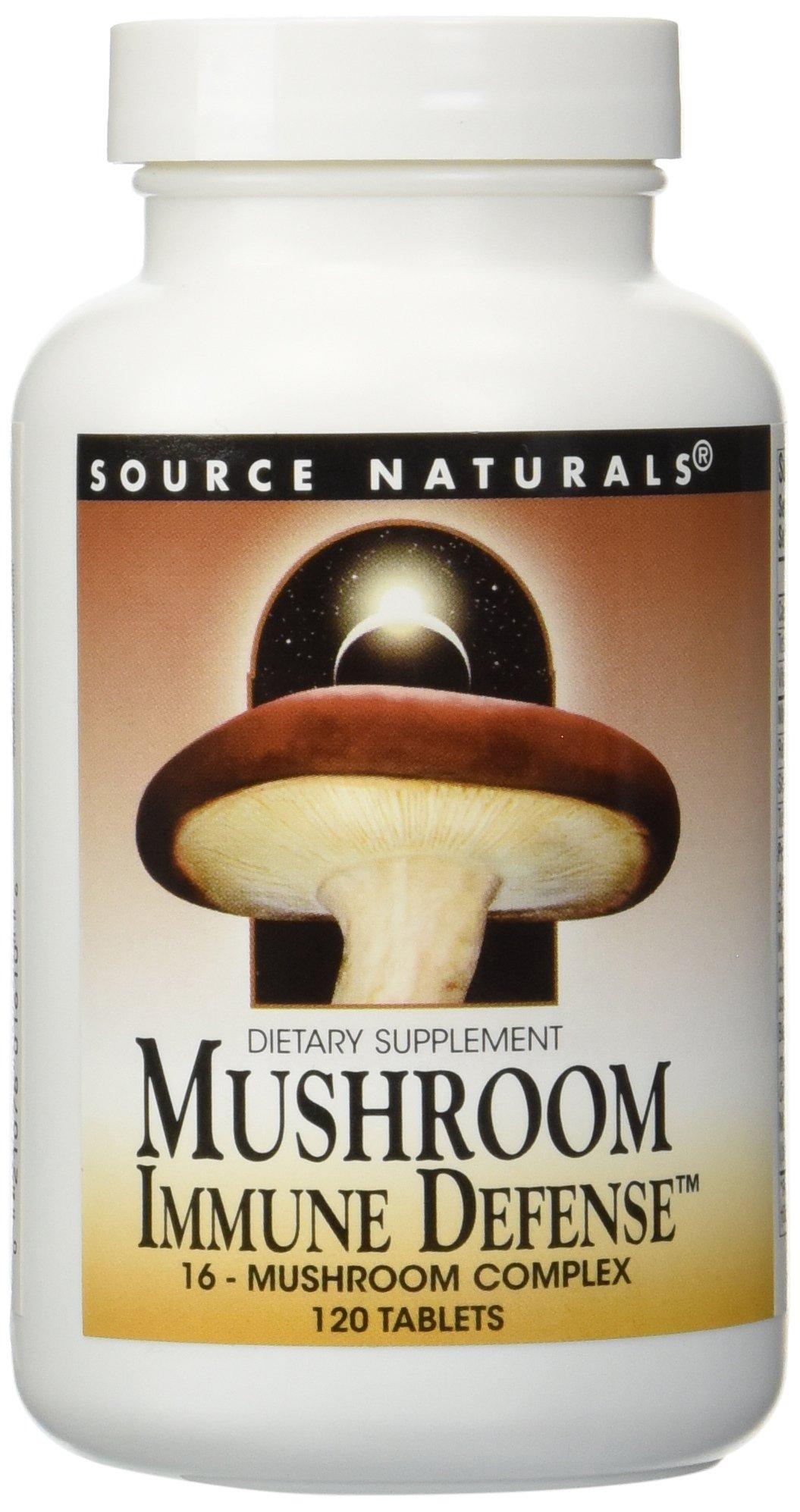 Source Naturals - Mushroom Immune Defense, 120 tablets