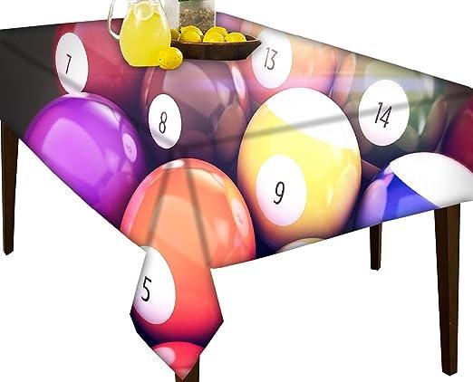 Bolas de billar repelente al agua mantel mesa de comedor para pantalla, vinilo, multicolor, 51 x 60: Amazon.es: Hogar
