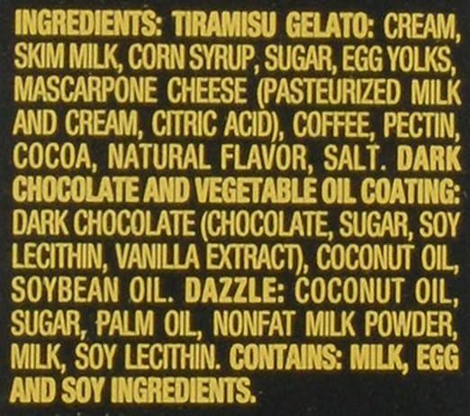 Haagen-Dazs, Tiramisu Dark Chocolate Gelato Bars, 3 Count (Frozen): Amazon.com: Grocery & Gourmet Food