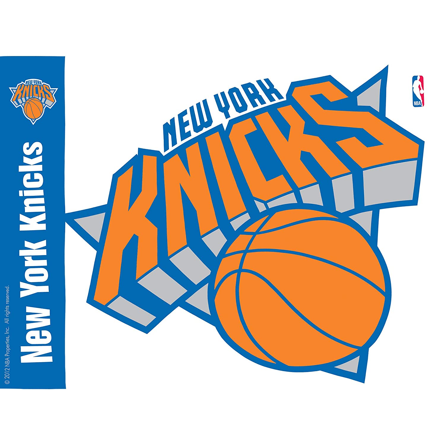 Clear Tervis 1084599 NBA New York Knicks Colossal Tumbler with Wrap and Orange Lid 24oz