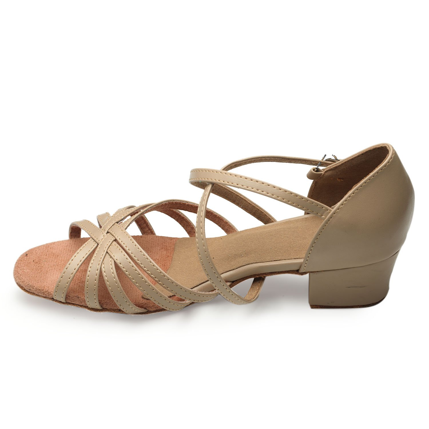 LOVELY BEAUTY for Lady's Ballroom Dance Shoes for BEAUTY Chacha Latin Salsa Rumba Practice B01LW5BFGU 7.5 B(M) US|Skin Color 5ff2f1