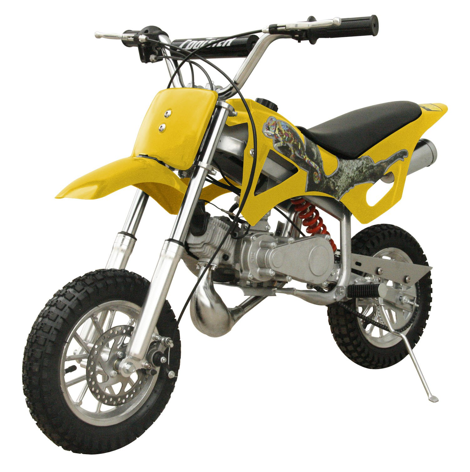 49cc 50cc 2-Stroke Gas Motorized Mini Dirt Pit Bike (Yellow) by Flying Horse
