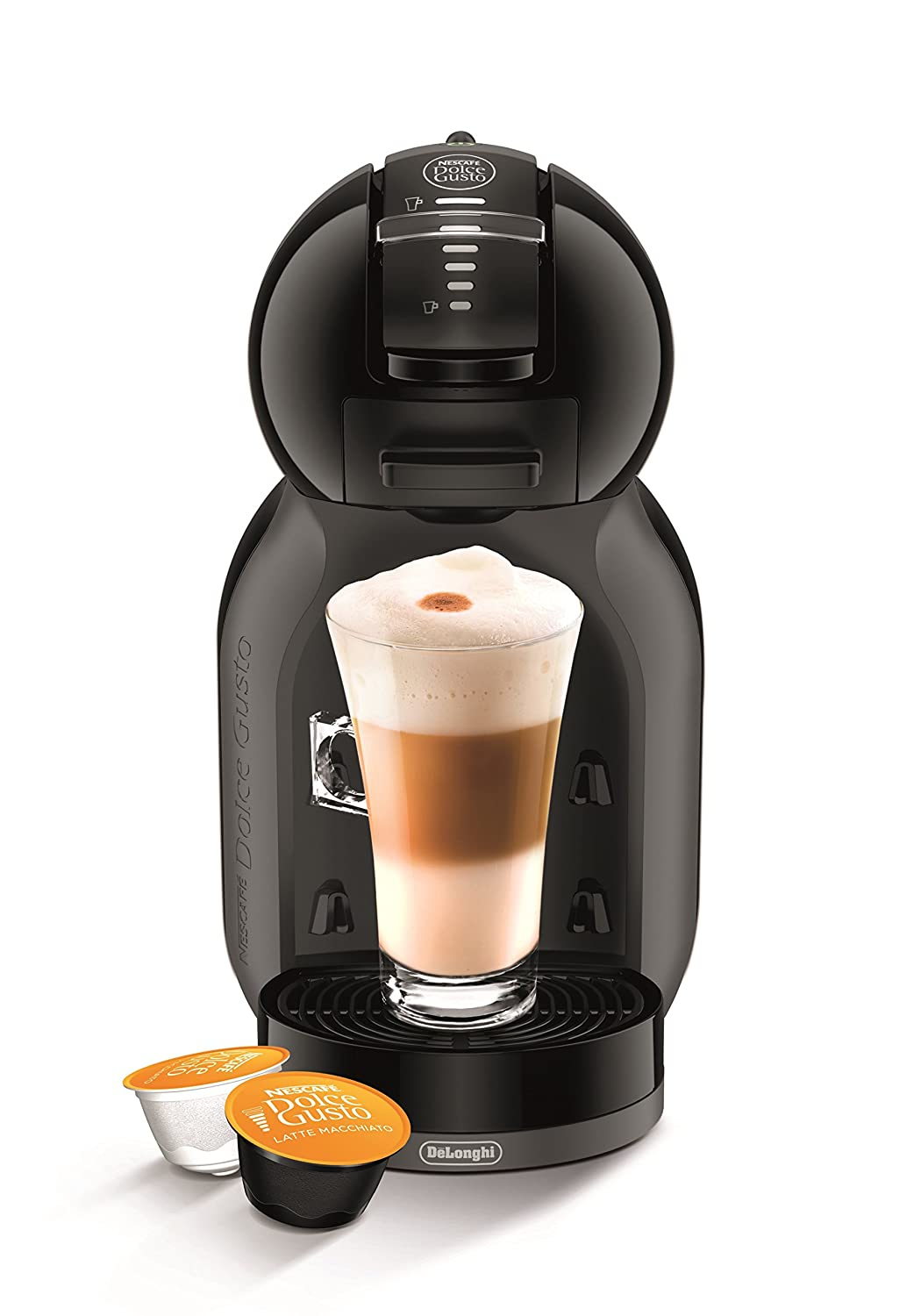 NESCAFÉ Dolce Gusto Mini Me Coffee Machine Starter Kit by De'Longhi, White/Black Delonghi EDG305.WB