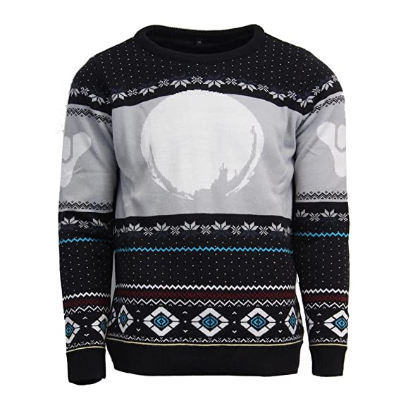 c4ca580e032 Destiny Official Traveller Christmas Jumper Ugly Sweater  Amazon.co.uk   Clothing