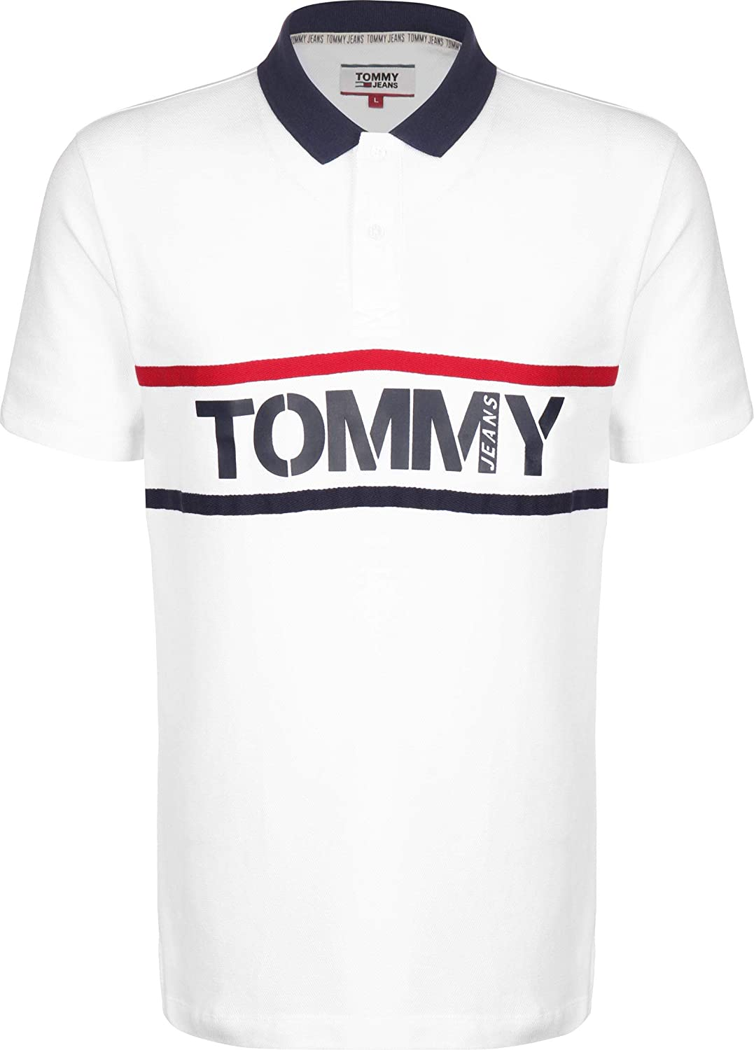 Polo para Hombre Tommy Jeans Bold Graphic 7779-YBR (Large): Amazon ...
