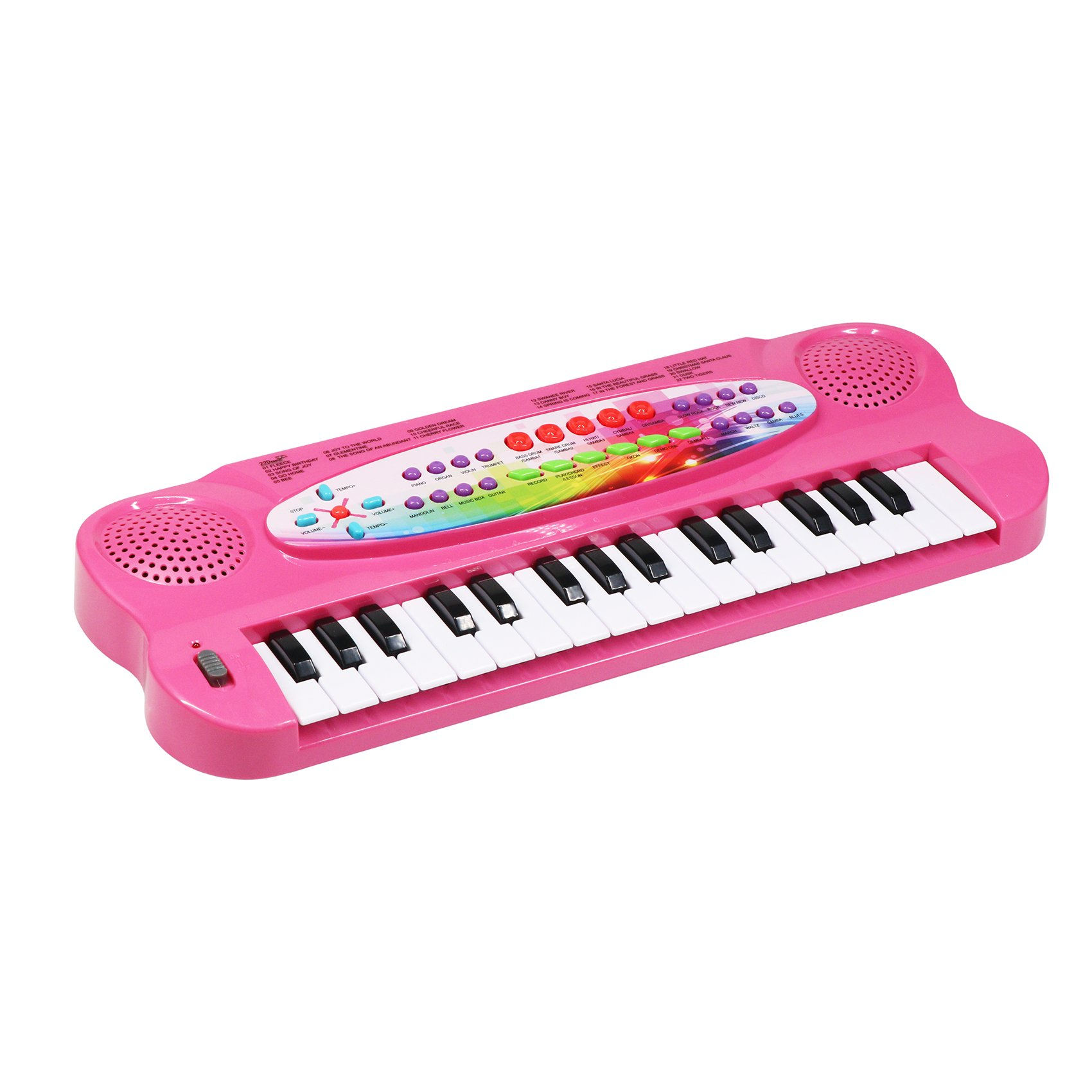aPerfectLife Kids Piano, 32 Keys Multifunction Electronic Kids Piano Keyboard Musial Instrument Kids Microphone (Pink)