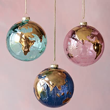 Glass Earth Globe Ornament (Pink) - Amazon.com: Glass Earth Globe Ornament (Pink): Home & Kitchen