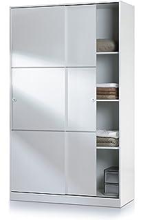 HABITMOBEL Armario almacenaje con Perchero y 3 estantes, con ...