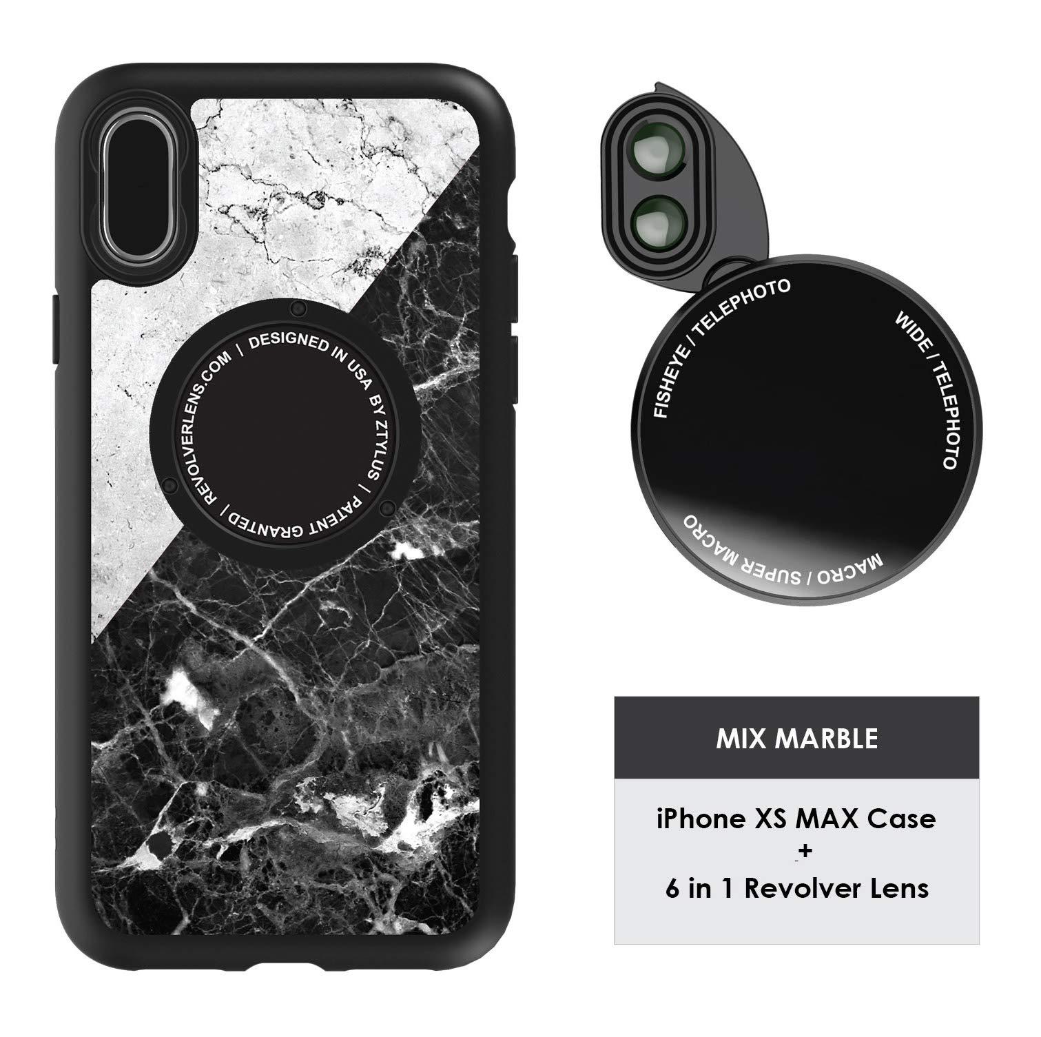 Funda y 6  Lentes Ztylus Revolver p/ iPhone Xs MAX - Mixe...