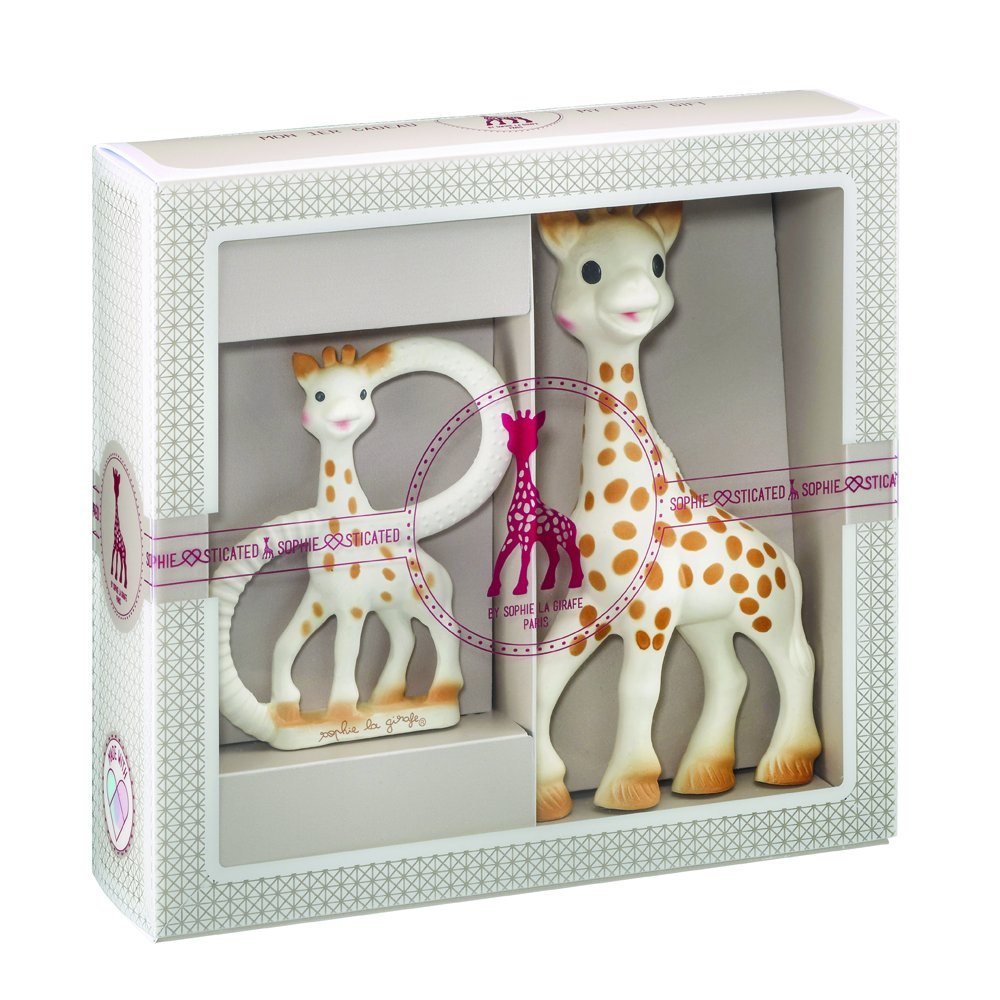 Vulli Sophie The Giraffe Sophiesticated Classical Creation Birth Gift Set Small #1- Teether & Toy