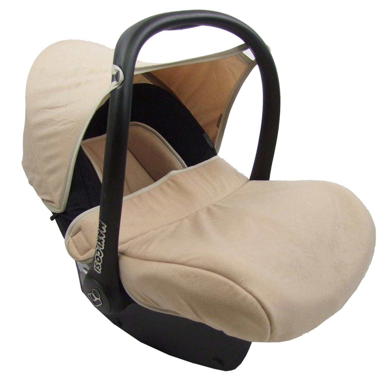 Bambiniwelt Kompl Ersatzbezug Für Maxi Cosi Cabriofix 7 Tlg Bezug Für Babyschale Sommerbezug Cabrio Fix Marineblau Beige Xx Baby