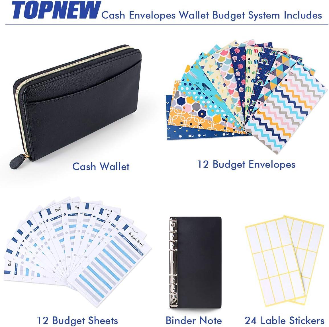 pour la Budg/éTisation et /éConomiser de LArgent Rose Timagebreze Portefeuille DEnveloppe de Budget de Tr/éSorerie Enveloppes de Tr/éSorerie pour la Budg/éTisation 12 Enveloppes de Budget
