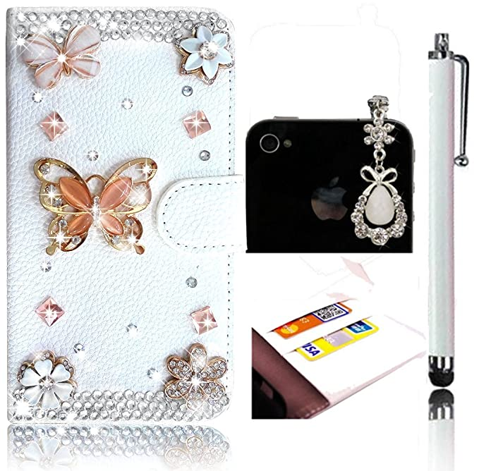 14 opinioni per Sunroyal® Farfalle e Fiori Diamante 3D Custodia per Samsung Galaxy Grand Neo