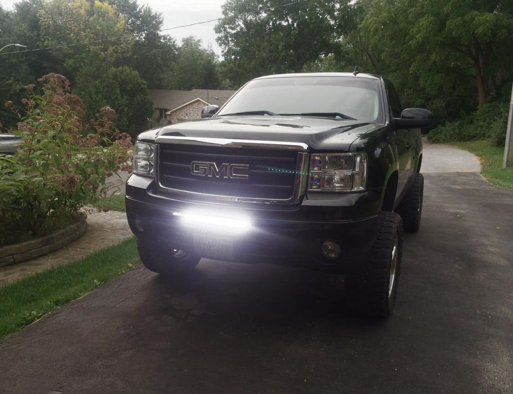 Lower Bumper Opening Mounting Brackets /& On//Off Switch Wiring Kit iJDMTOY Auto Accessories Includes 1 100W CREE LED Lightbar iJDMTOY Lower Grille 20 LED Light Bar Kit For 2009-13 GMC Sierra 1500 /& 08-14 2500 3500 HD