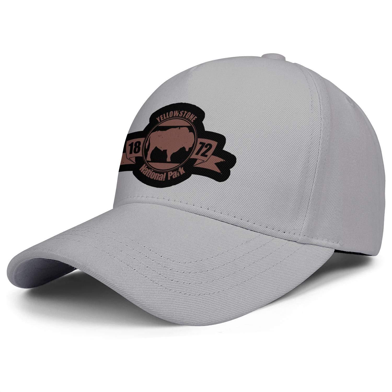 Yellowstone National Park Baseball Hat Mans Women Adjustable Mesh Sun Flat Caps