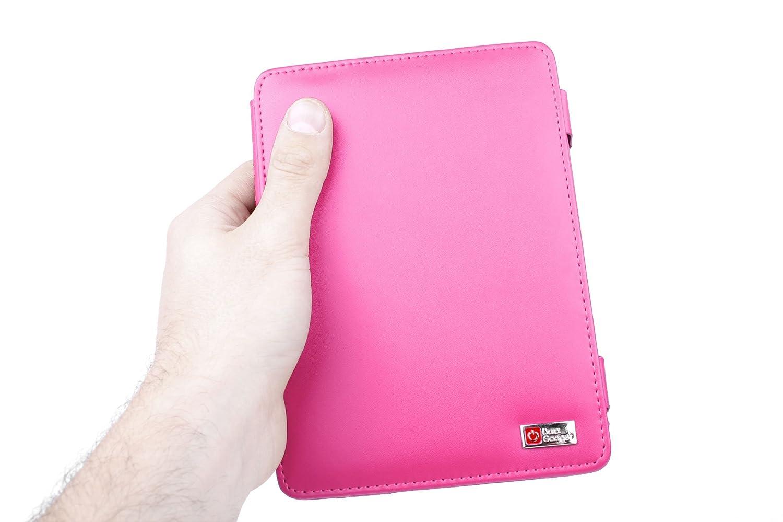 Wi-Fi,6 De + Luz LED De Lectura Clip On Negra /Última Generaci/ón, Marzo 2012 DURAGADGET Funda Rosa De Cuero En Estilo De Libro Para El Nuevo Kindle Touch