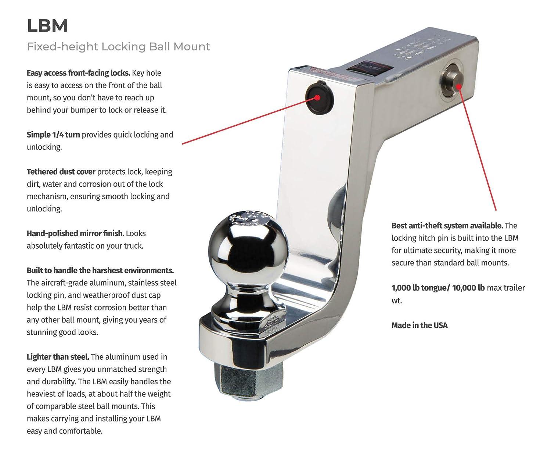 Flash 2 drop 1 1//4 hole Locking Aluminum BM