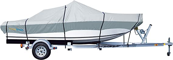 Amazon.com: PrimeShield Boat Cover, Waterproof 600D Oxford Marine Grade Trailerable Runabout Boat Covers, Heavy Duty 13/15/16/17/18/19/20/21/22 ft fits V-Hull Tri-Hull Pro-Style Bass Boats with Tightening Strap: Automotive