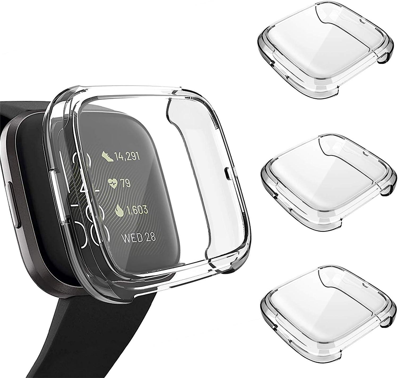 apike Protector Pantalla para Fitbit Versa 2 TPU Cobertura Total Tacto Sensible【10 Pieza】 sin Burbuja Alta Definici/ón