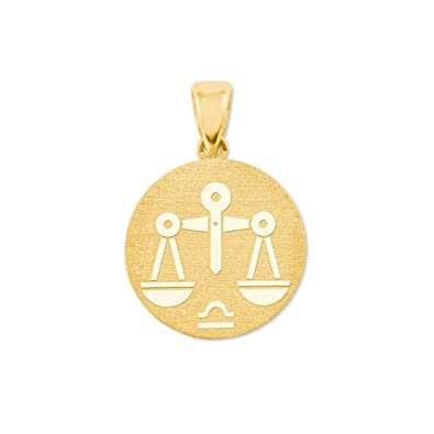 Amor Sternzeichen Waage Münzen Anhänger Gold 375 Amazonde Schmuck