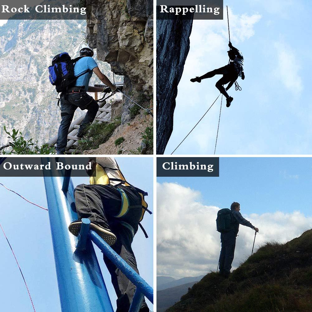Klettern langlebig bequem perfekt f/ür Rappelling Outdoor-Sport Abenteuer Intra-FIT Seilhandschuh verbesserte Beweglichkeit weich Rettung