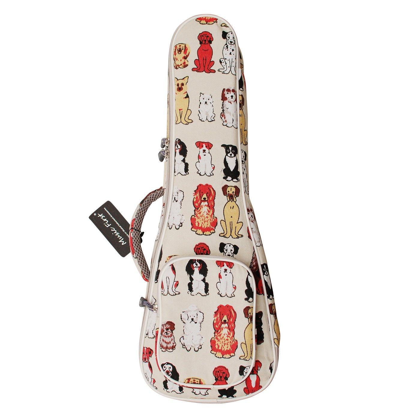 Funda Music First para ukelele dise/ño de gatos de algod/ón