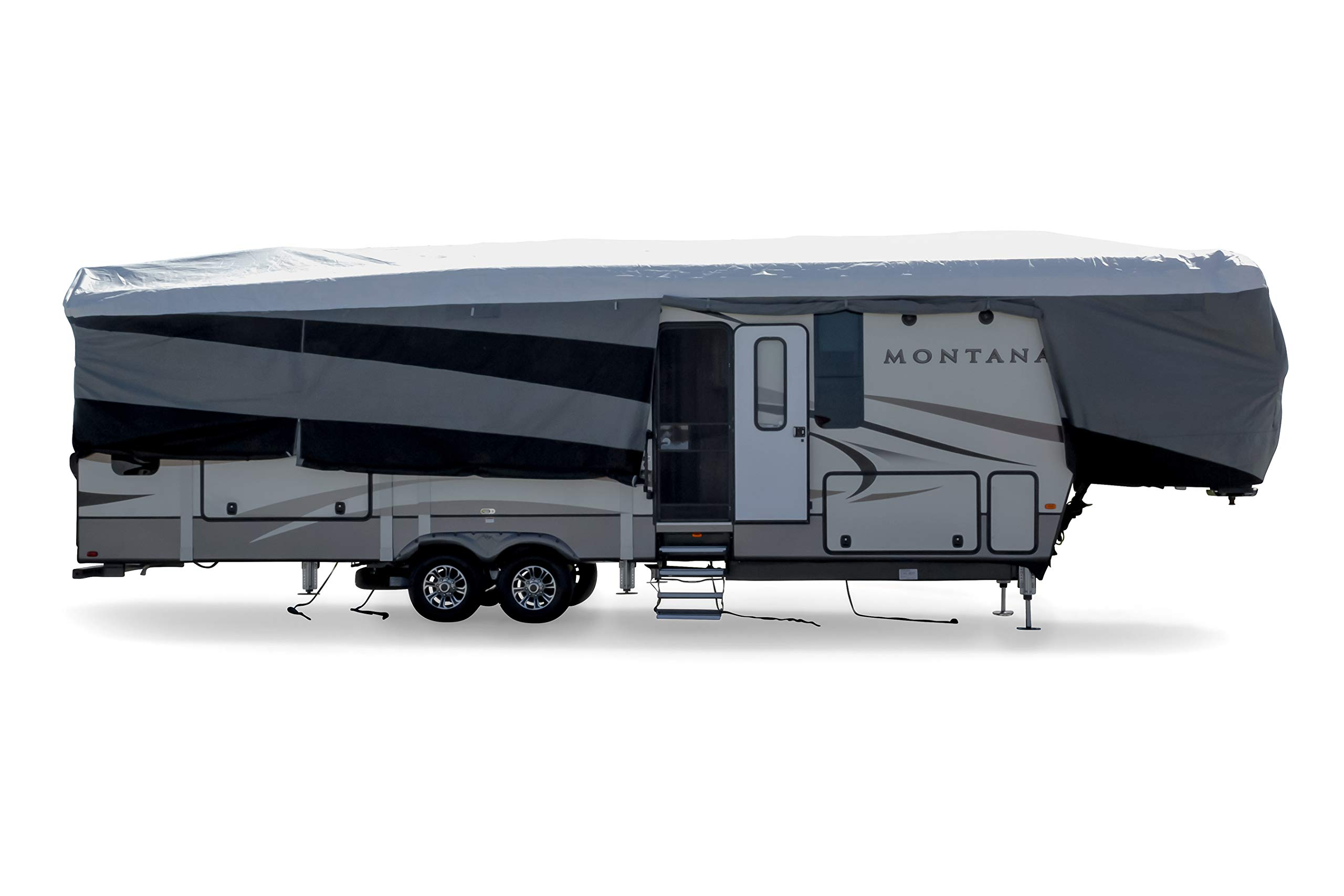 Camco ULTRAGuard Supreme RV Cover-Extremely Durable Design Fits Fifth Wheel Trailers 34' -37', Weatherproof with UV Protection and Dupont Tyvek Top (56150) by Camco (Image #4)