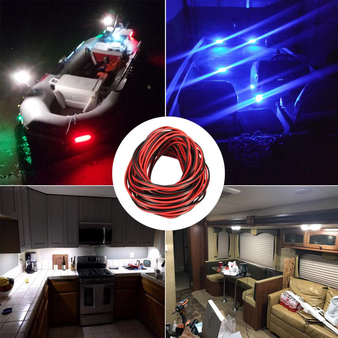 Shangyuan Boat Light Extension Cable Wire Cord 3528 5050 5630 Led Wiring Pontoon Lights Strip Single Color