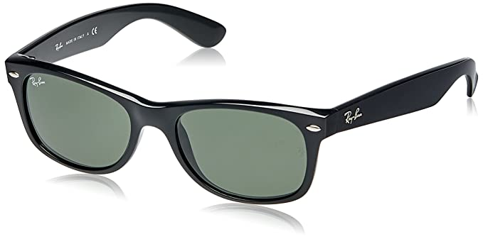 black ray bans  Amazon.com: Ray-Ban NEW WAYFARER - BLACK Frame CRYSTAL GREEN ...