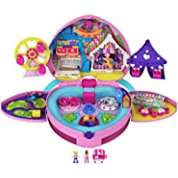 ​Polly Pocket Tiny is Mighty Theme Park Backpack Compact with Adjustable Straps, 2 Micro Dolls, Ice Cream Cart & Rides…
