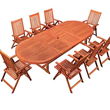 Salon de jardin MORENO en eucalyptus - Certification FSC® - table ...