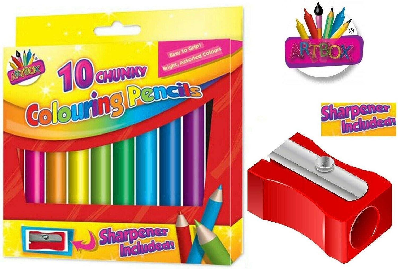Artbox Colouring Pencils Set Assorted Bright Colours Kids Art School