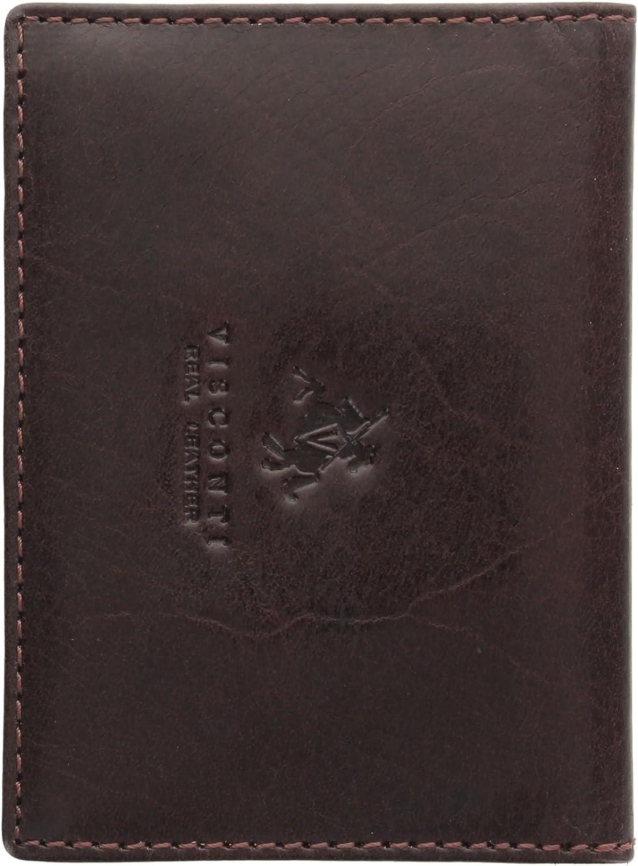 Visconti Leather Oyster Card//Travel Pass Holder TC1TC Black