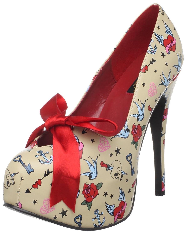 Pin Up Couture Bettie Red Satin Polka Dot Ankle Strap Peep Toe Heels B004NNK33O サイズ09(24.5~25cm) RSA RSA サイズ09(24.5~25cm)