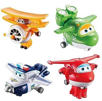 2c347f26ccfd8 Auldey - Super Wings Pack de 4 Figurines transformables   quot Transform-a-bot quot