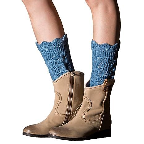 Calentadores de Pierna,TININNA Cálido Invierno Calcetines para Botas de Punto para Mujeres-Azul