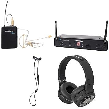 SAMSON Concert 88 Wireless 16-Ch. Sistema de auriculares UHF + auriculares + altavoz Bluetooth: Amazon.es: Instrumentos musicales
