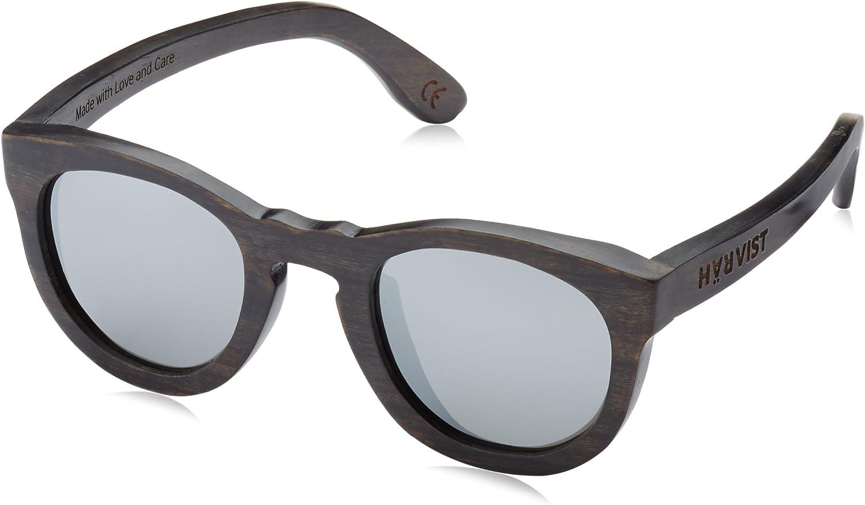 TALLA Talla única. HÄRVIST Roundwood - Gafas de sol de madera, unisex, color ébano