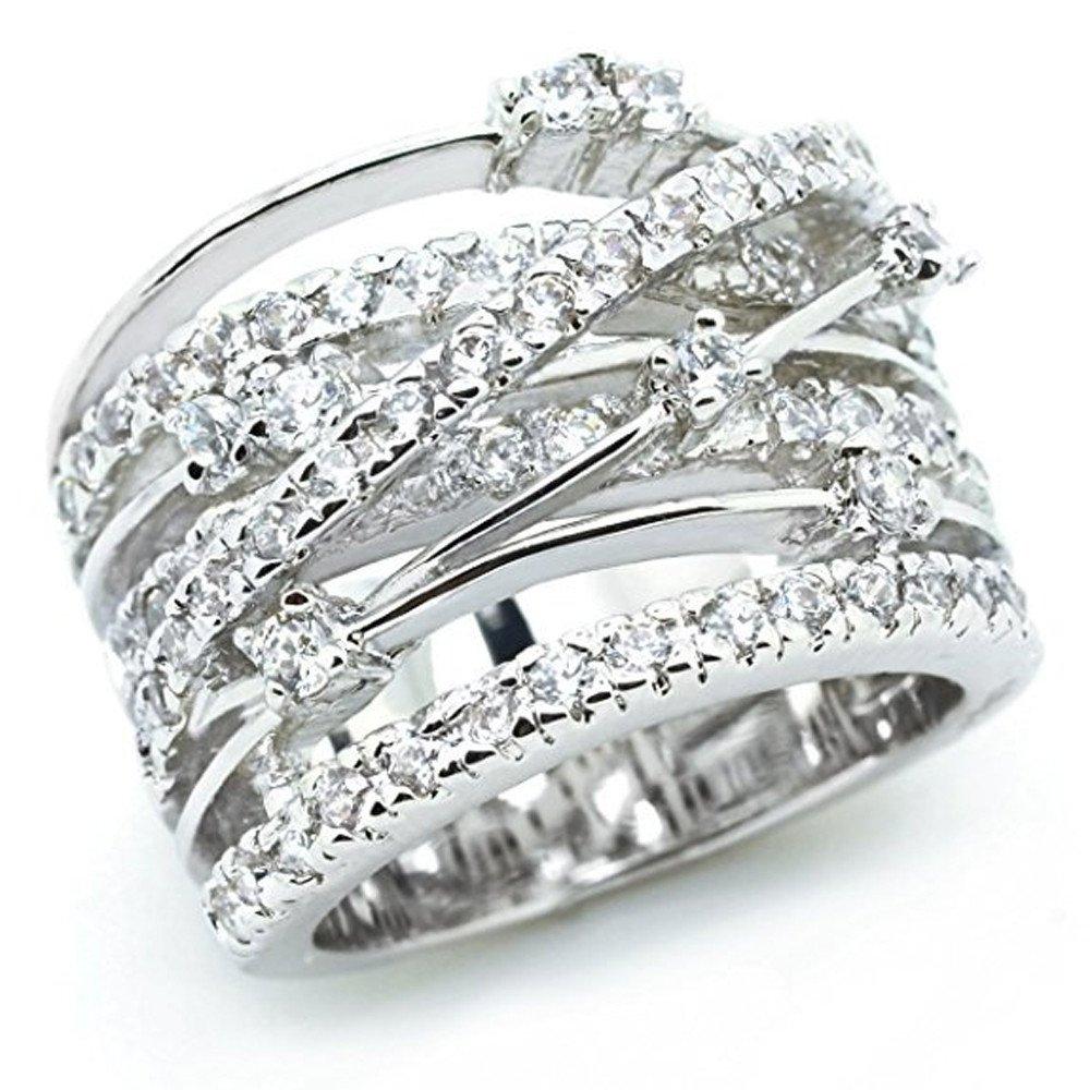 Watopi Noble Statement Ring For Women Custom Crystal Filigree Rose