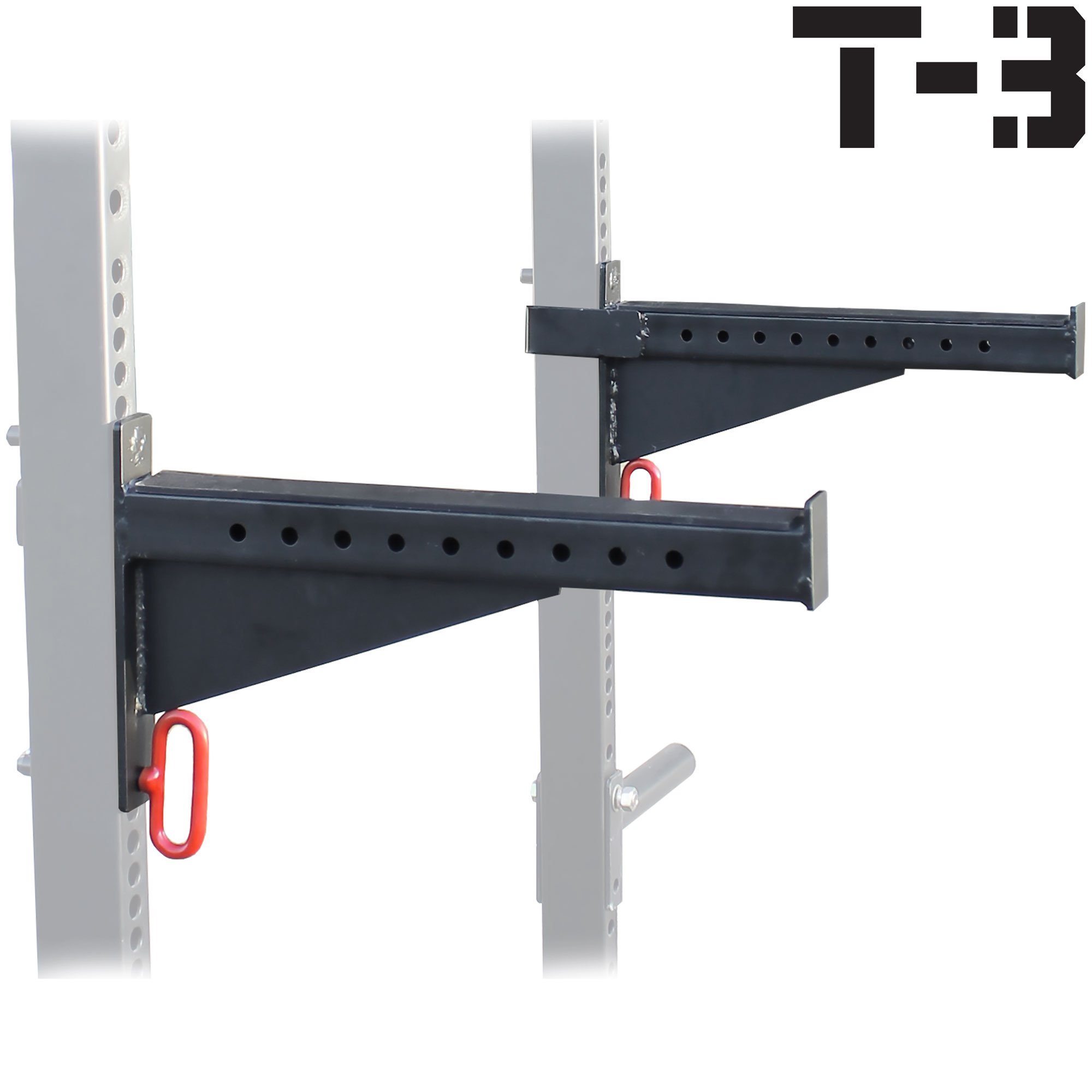 Spotter Arms for T-3 HD Power Rack With 2x3'' Tubes Bench Press Squat Lift Safety